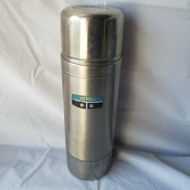 Vintage Thermos stainless Steel Vacuum Bottle quart size #2460S Stopper #764 - $24.74
