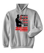 MARTIN LUTHER KING JR KEEP MOVING FORWARD QUOTE - NEW COTTON GREY HOODIE - $39.91