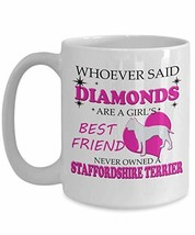 Staffordshire Terrier Mug Coffee Tea Cup Funny Gifts for Men Women Mom Dad - 11  - $19.75