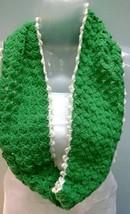 Cowl Infinity Scarf Muffler Neck Warmer Soft Acrylic Handmade Crochet Bo... - $8.90