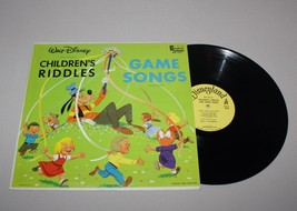 1965 Walt Disney Childrens Riddles Game Songs Music 33 1/3 Record Album ... - $12.82