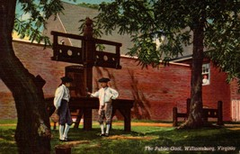 LINEN POSTCARD- THE PUBLIC GAOL, WILLIAMSBURG VIRGINIA  BK16 - $1.96