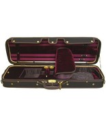 SKY Luxury Euro-Style 4/4 Full Size Violin Case Oblong Black/Maroon - $158.39