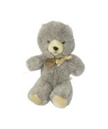 VINTAGE ANIMAL FAIR TEGA-BEAR GREY TEDDY BEAR STUFFED ANIMAL PLUSH TOY G... - $73.87