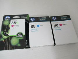 HP 88XL Ink Cartridge Magenta (EXP: 2/15) Lot of 3 Economy 88 Cyan & Magenta NEW - $19.99