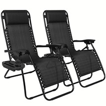 Patio Chairs 2X Folding Lounge lightweight Recl... - $86.12