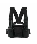 2 Way Radios Harness Chest Case with Front Pouches and Zipper Bag for Un... - $18.05