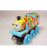 Wood Thomas the train Splatter paint engine - $12.00