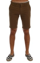 New $340 Dolce & Gabbana Men Brown Cotton Stretch Above Knees Shorts It5... - $128.72