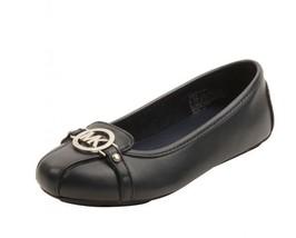Michael Kors Girl's Shoes Fulton Mia Navy Blue ... - $46.99