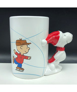 CHARLIE BROWN COFFEE MUG CUP snoopy handle 50 years christmas Peanuts Sc... - $27.09