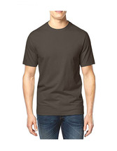 NEW CLUB ROOM CREW NECK SHORT SLEEVE SOLID BROWN COFFEE COTTON T SHIRT T... - $9.99