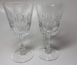 (2) Viscount by Gorham Wine Goblets Glasses Crystal - $48.51