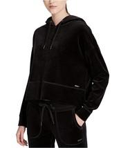 Calvin Klein Performance Women's Cropped Velour Hoodie 3X, Black 4757-3 - $41.65