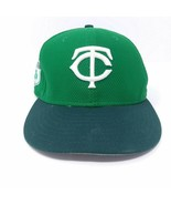 "Minnesota Twins St Patrick's Day hat  MLB New Era 7 1/8"" FITTED Solid Green - $23.15"