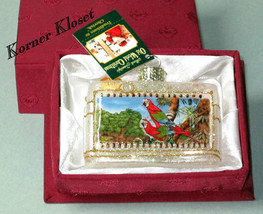 Merck Family's Old World Christmas Ornament - Inside Art - Macaws - Birds - NIB - $25.11