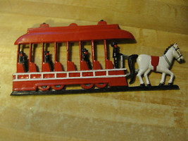 HORSE DRAWN TROLLY&PASSENGERS,METAL WALL HANGING - $23.75