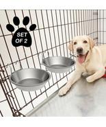 2 Pcs Metallic Dog Bowl Feeder - $19.79