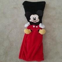 Disney Parks Mickey Mouse Fleece Blanket 3D SOFT Black Red Baby Lovey Lap - $34.60