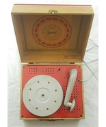 Vintage Spear Electric Red Phonograph Model 6 Parts Not Working - $35.99