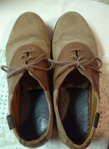 Bass Suede Saddles Men's Shoes Size 9M Beige/Brown Made in USA Suede Oxford - $20.94