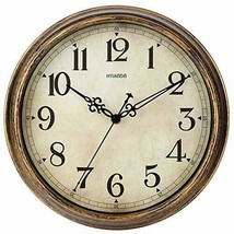 Wall Clock - 12 Inch Vintage Wall Clocks Battery Operated - Retro Silent... - $31.23