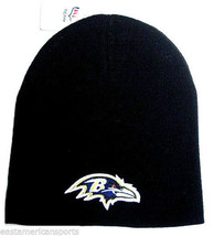 Baltimore Ravens NFL Knit Hat Cap Solid Black w/ Purple Logo Winter Snow... - $9.99