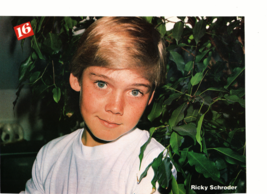 Ricky Schroder Journey teen magazine pinup clipping end of the show shirtless