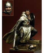 Unpainted Resin Model Kit Templar Knight XII ancient soldier figure Hist... - $39.42