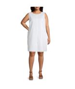 Liz Claiborne Sleeveless A-Line Eyelet Dress Plus Size 1X White $64.00  - $16.99