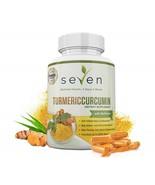 Seven Nutrition Turmeric Curcumin Supplement 1300mg + BioPerine 60 Caps - $96.99
