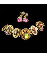 Antique Bookchain bracelet / Victorian bracelet / Edwardian Earrings / C... - $195.00