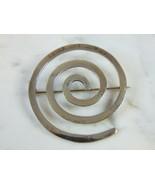 Womens Vintage Estate Sterling Silver Spiral Brooch 13.3g E5110 - $74.25