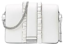 Michael Kors Optic White Jade Ruffled Leather Clutch 30S8SJ4C6L-1999 - $169.98