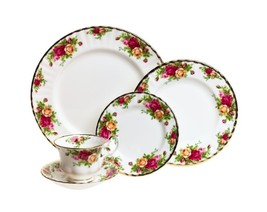 Royal Albert Old Country Roses 5-Piece Place Setting NEW IN THE BOX  (s) - $72.26