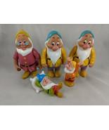 "Disney Snow White Dwarf Figure Toy Lot 6.5"" & 3"" Tall - $7.15"