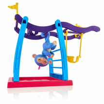 Wow Wee Baby Monkey Blue Pink Hair Fingerlings Playset Monkey Bar Playgr... - $23.71