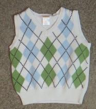 Gymboree  Argyle V-Neck Sweater Vest Size 6-12 6 12 Months - $12.19