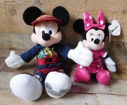 2 Disney Mickey Mouse 2007 & Minnie Mouse 2015 Peluche Peluche - $12.86