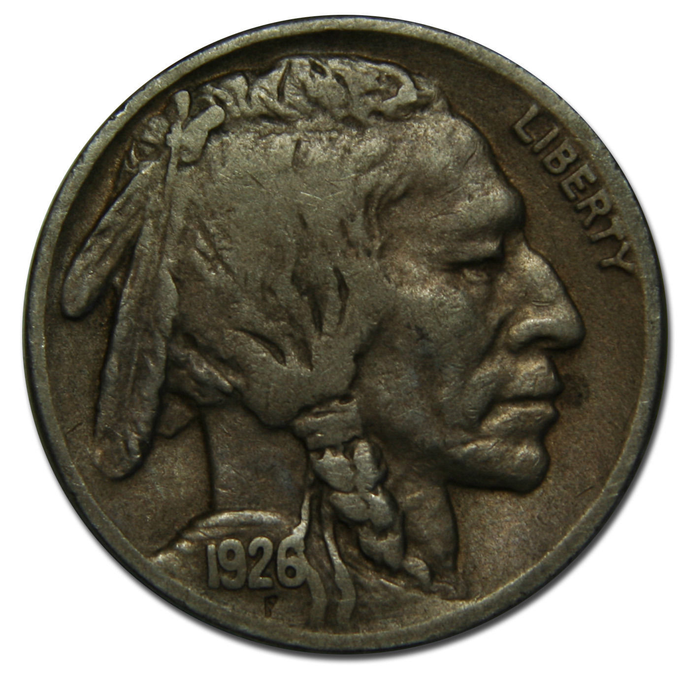 1926S Buffalo Nickel 5¢ Coin Lot # B 43