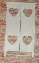 HANDMADE WHITE HEART SOLID WOOD CABINET - €11,07 EUR+