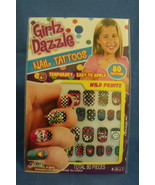 Girls New Girlz Dazzle Temporary Nail Tattoos Wild Printz 80 Tattoos - $5.95