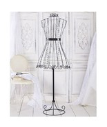 Decorative Vintage Look Dress Form Metal Wire Mannequin Boutique Stand S... - $38.98