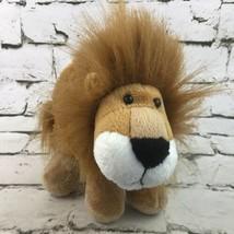 Vintage Tri Russ Noah Plush Lion Golden Brown Shaggy Stuffed Animal Appl... - $14.84