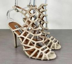 Steve Madden 'Slithur' Sandal, Nude Leather, Womens Size 8 M - $29.69