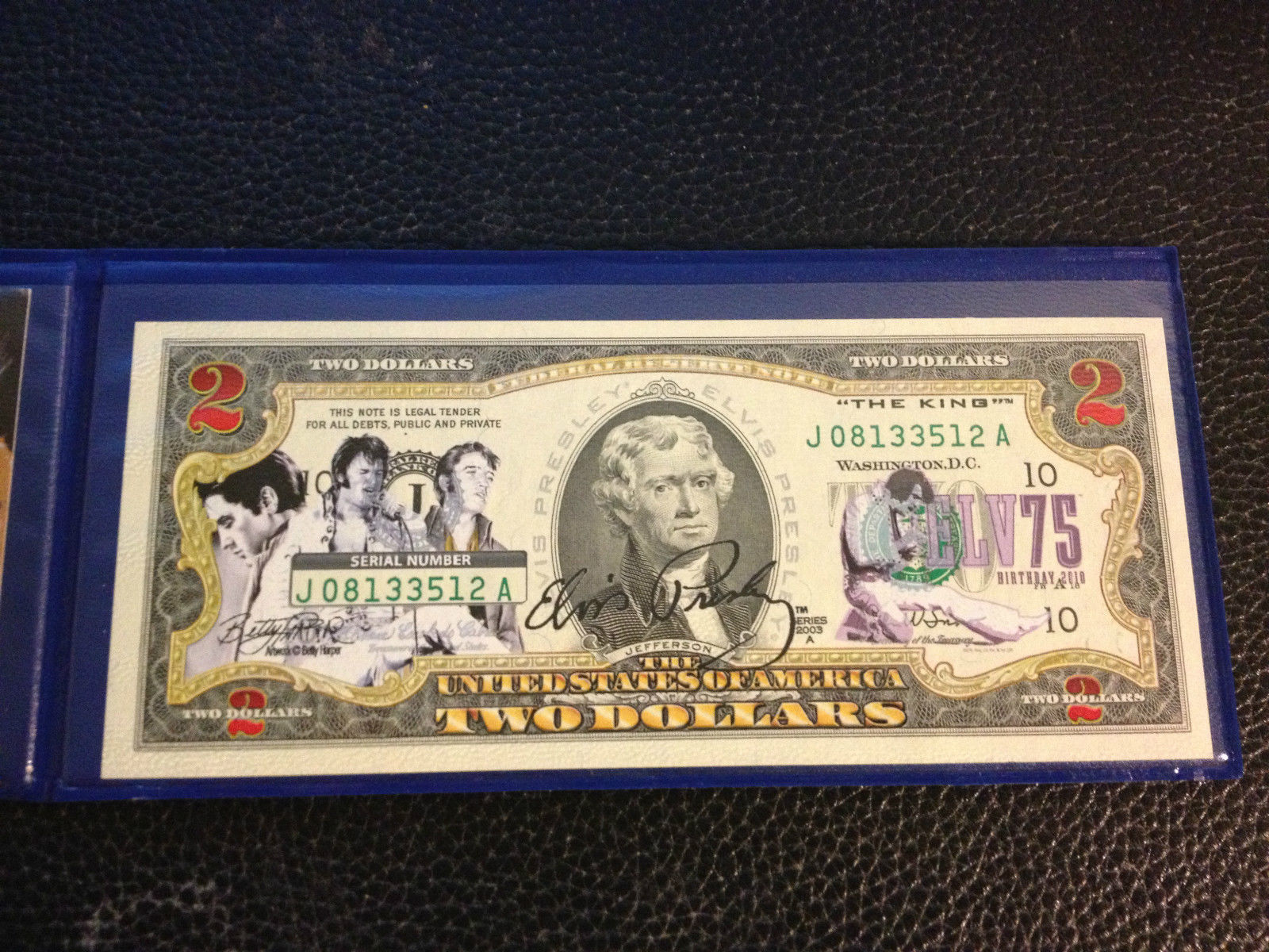 "$2 Bill *OFFICIALLY LICENSED* MUHAMMAD ALI /""The Greatest/"" Legal Tender U.S"