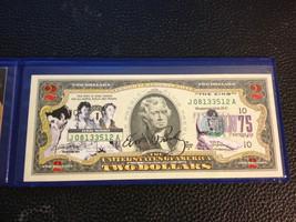 USA $2 Dollar Bill Legandary Rocker ELVIS PRESLEY 75th Birthday Legal Te... - $17.66
