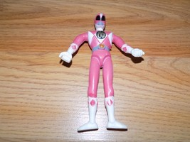 Disney Power Rangers Pink Ranger Bendable Rubber Figure EUC 1990's - $8.00