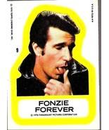 Happy Days TV Show Insert Sticker Card Fonzie Forever Topps 1976 Estate - $4.99