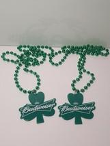 Budweiser St. Patricks Day Mardi Gras Beaded Necklace Pair (2) Free Ship... - $7.68